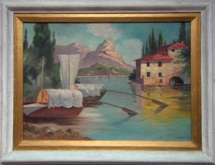 Gemälde und Rahmen Vorzustand